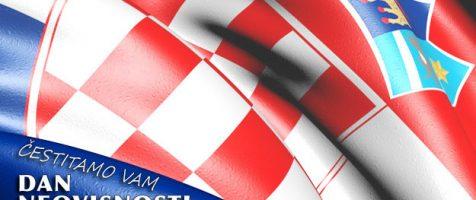 Čestitamo vam Dan Neovisnosti Republike Hrvatske